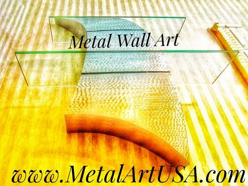 Custom Made Curves Shelving / Metal Sculpture / Wall Decor / Metal Art / Nautical Home Decor