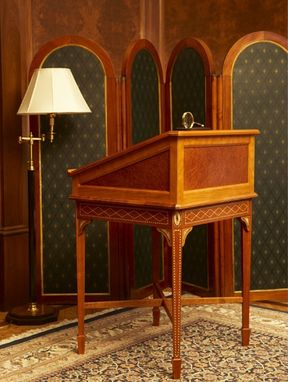 Custom Made Distinguished Reading Desk In Harrison, Ny