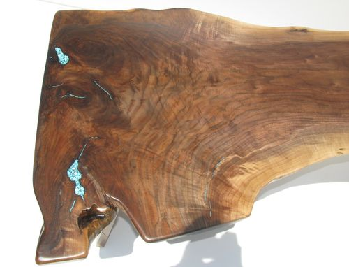 Custom Made Highly-Figured Walnut Stump Coffee Table
