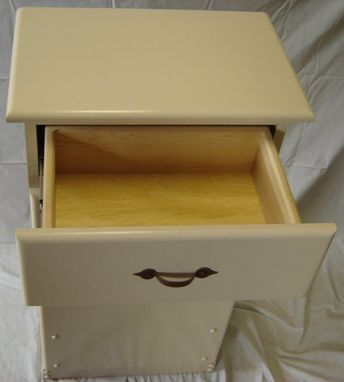 Custom Made New Solid Maple Wood Kitchen Garbage Bin | Trash Can | Recycling Bin With Drawer