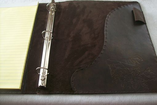 Custom Made Custom Leather Left-Handed Business Binder And Portfolio