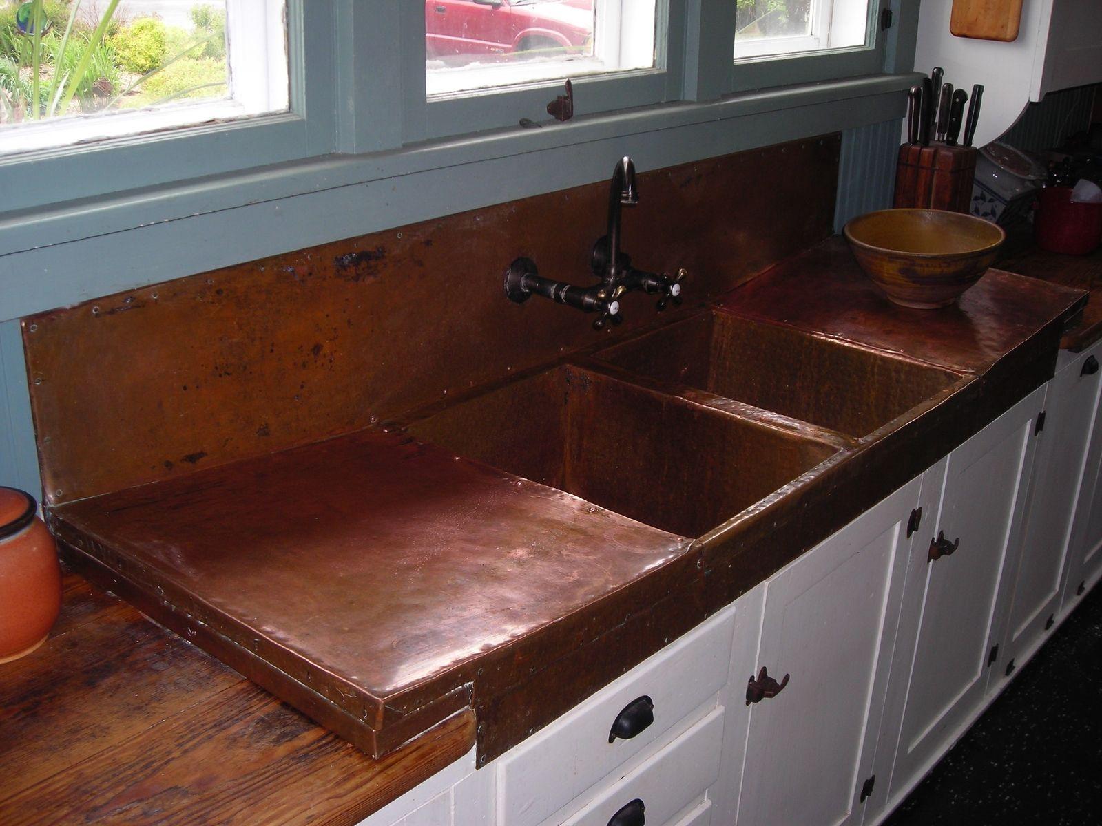 Custom Copper Sink Kitchen Sink by Iron John Logan Iron Tree