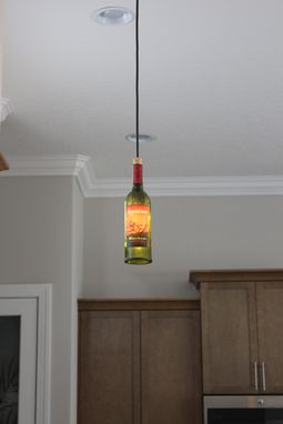 Custom Made Wine Bottle Pendant Light - Customer Bottle
