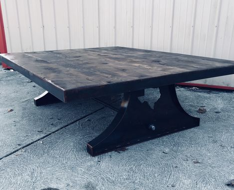 Custom Made Industrial Coffee Table - State Table