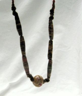 Custom Made Paper Bead Necklace