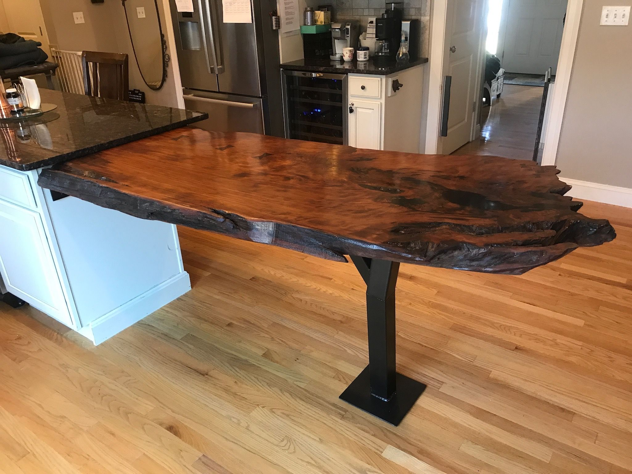 Custom Live Edge Island Extension By Maker Woodworker
