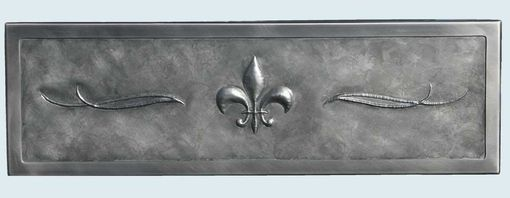 Custom Made Stainless Sink With Repousse Fleur-De-Lis