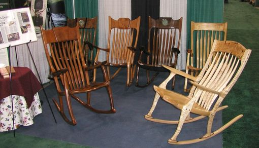 Custom Made Available Now Tiger Maple Rocker