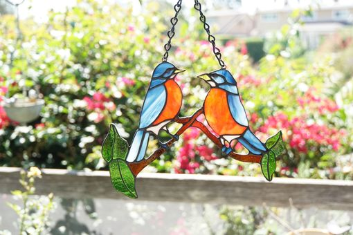 Custom Made Sun Catcher - Robins