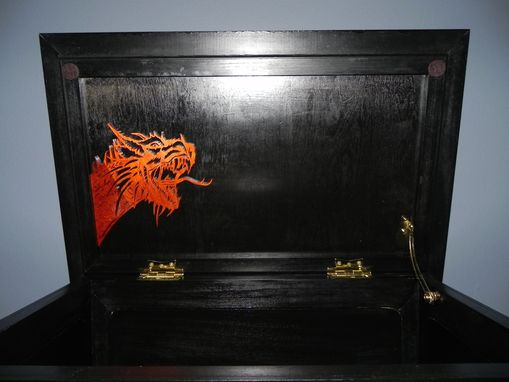Custom Made Scrollsawn Dragon Chest