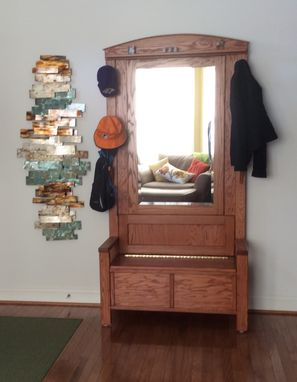 Custom Made Coat Tree With Storage Bench