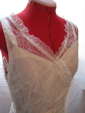 Custom Made White Lace And Ivory Silk Wedding Dress