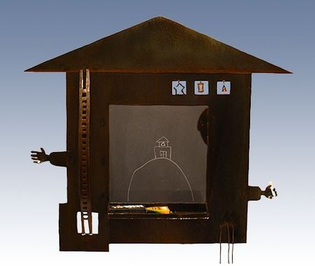 Custom Made Chalkboard With Metal Frame :: Contemporary Sculptural Furniture, Home Decorative Accents,