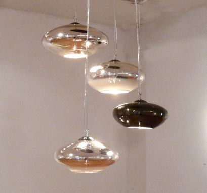 Custom Made Reflect Chandelier /  3 Pendant