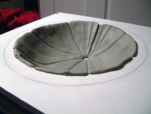 Custom Made Sculpted Leaf Sink