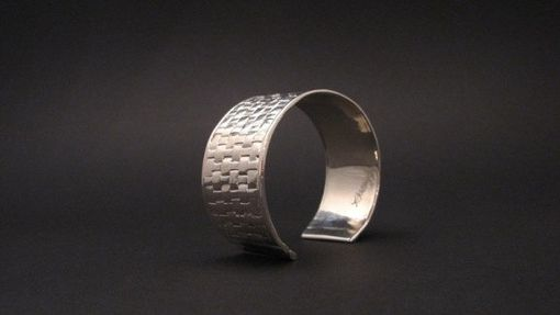 Custom Made Anasazi Collection Woven Sterling Silver Cuff Bracelet