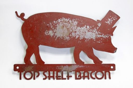 Custom Made Top Shelf Bacon Sign