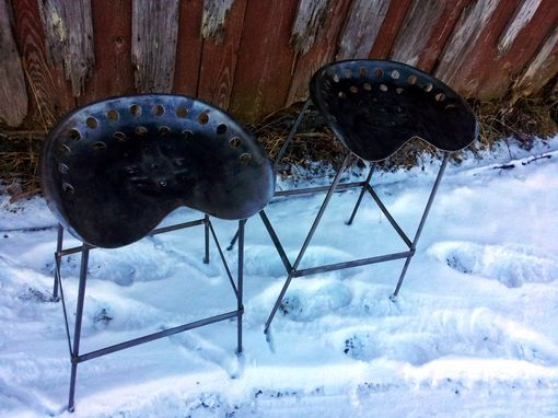 Custom Made Vintage Tractor Seat Bar Stools