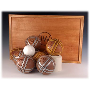 Custom Made Bocce Sets With Painted Balls
