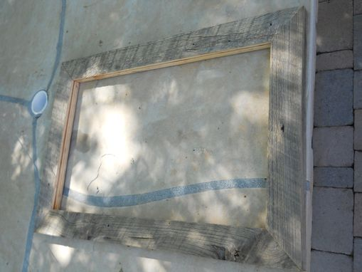 Custom Made Gray Barnwood Frame For Mirror Or Portrait