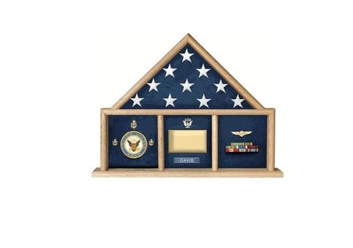 Custom Made Oak 5 X 9.5 Army Flag Memorial Case