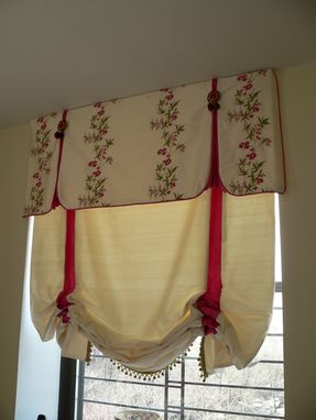 Custom Made Balloon Shade With Accented Inverted Pleat