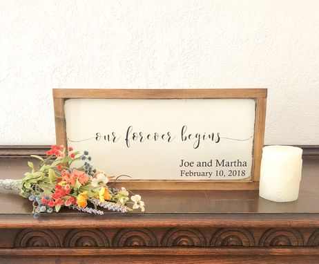 Custom Made Personalized Farmhouse Wedding Date Sign