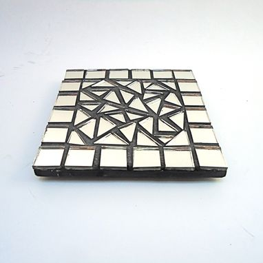 Custom Made Mirror Mosaic Coaster