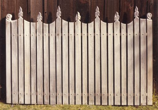 Custom Made Fence - Redwood - Hand Carved