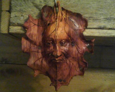 Custom Made Spirit Of The Wood,Leaf Face