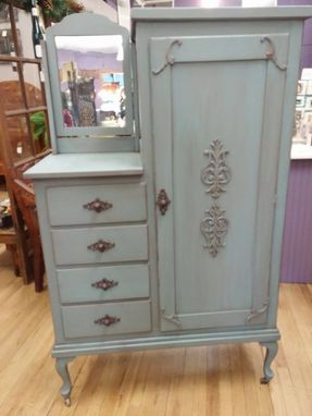 Custom Made Painted Antique Armoire
