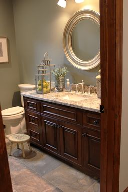 Custom Made Traditional Bathroom Vanity
