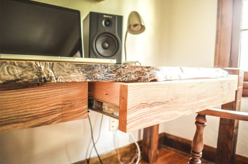 Custom Made Live Edge Ash Desk