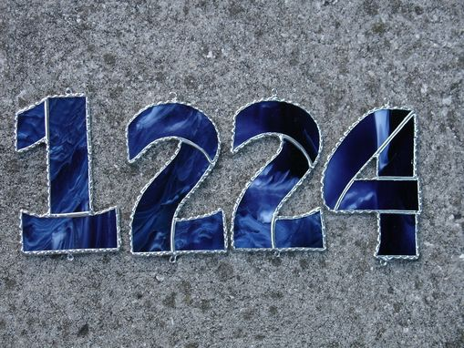 Custom Made Stained Glass House Numbers