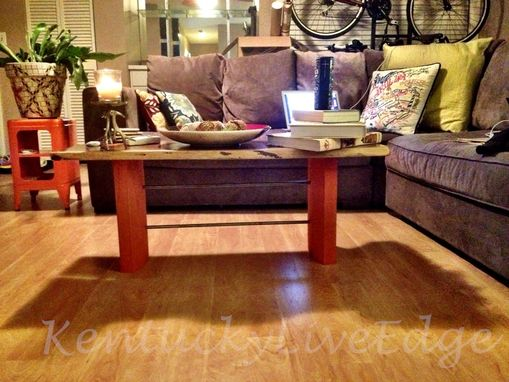 Custom Made Artistic Coffee Table Contemporary Coffee Table Chocloate And Orange