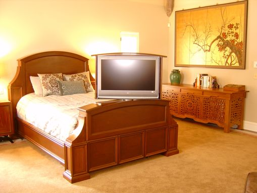 Custom Made Mahogany Bed With Tv Lift And Swivel