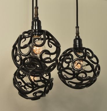 Custom Made Scroll Ball Cluster Light