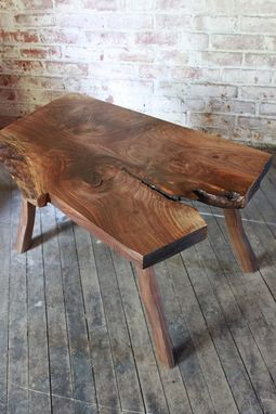 Custom Made Riven Coffee Table Or Bench