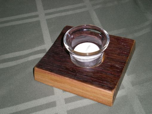 Custom Made Wine Barrel Votive