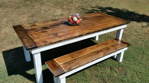 Custom Made Colonial Farmhouse Table And Bench