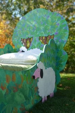 Custom Made Custom Made Hand Painted Kids Tree Bed