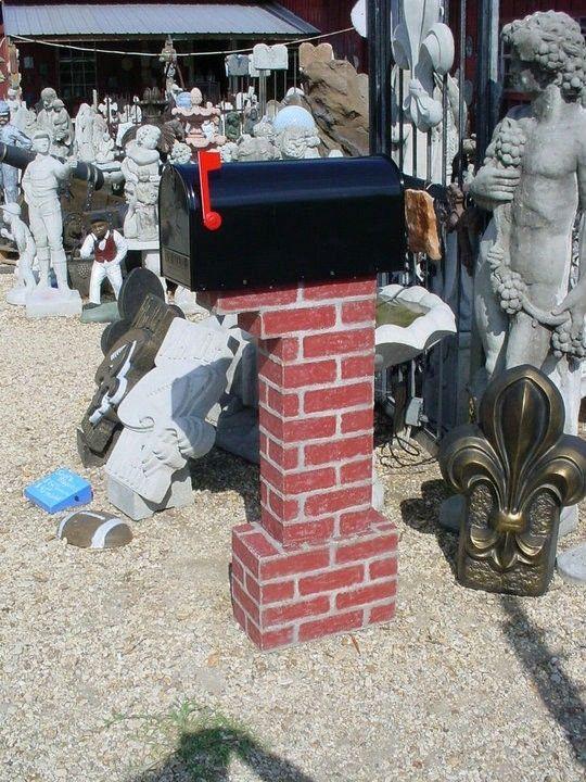 Hand made lifetime concrete faux brick usps postal mailbox post 2 custom made lifetime concrete faux brick usps postal mailbox post 2 pcs solutioingenieria Images