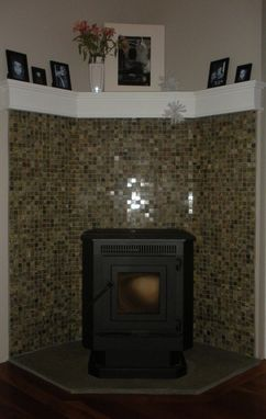 Custom Made Fireplace Corner Pellet Stove