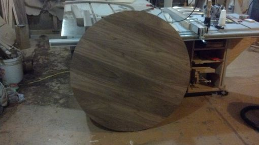Custom Made Round Walunt Kitchen Table