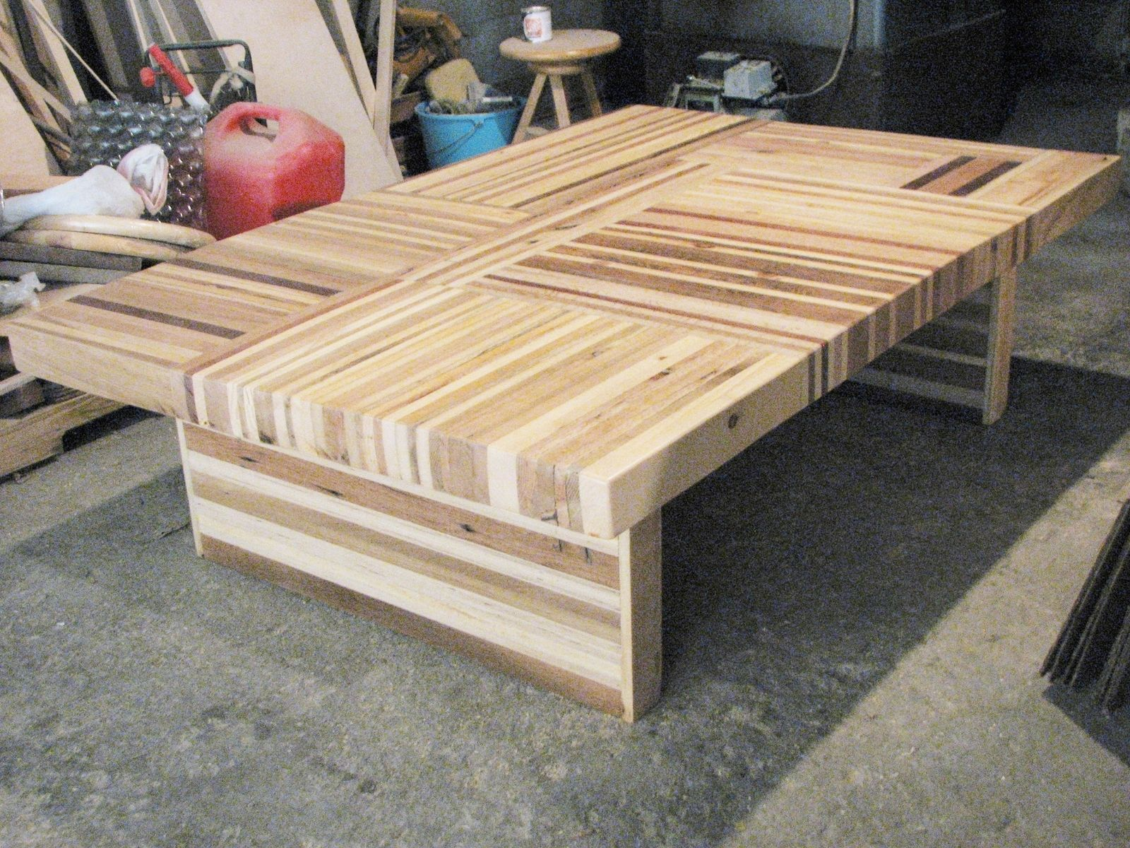 Reclaimed Butcher Block buy a custom reclaimed wood butcher block puzzle table, made to