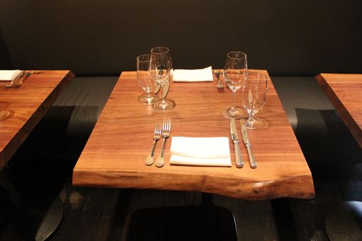 Custom Made Live Edge Bar Tables