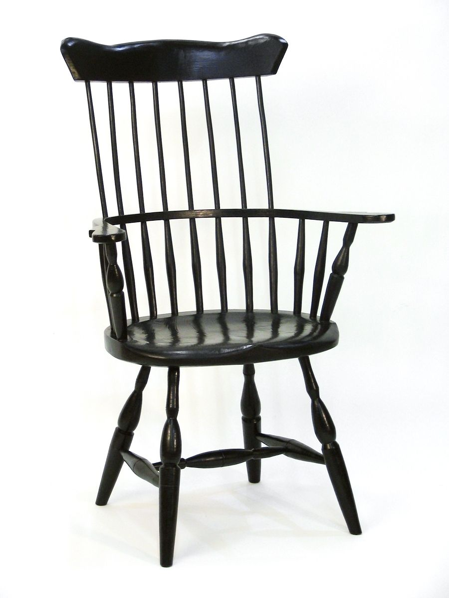 Custom Made American High Back Windsor Chair