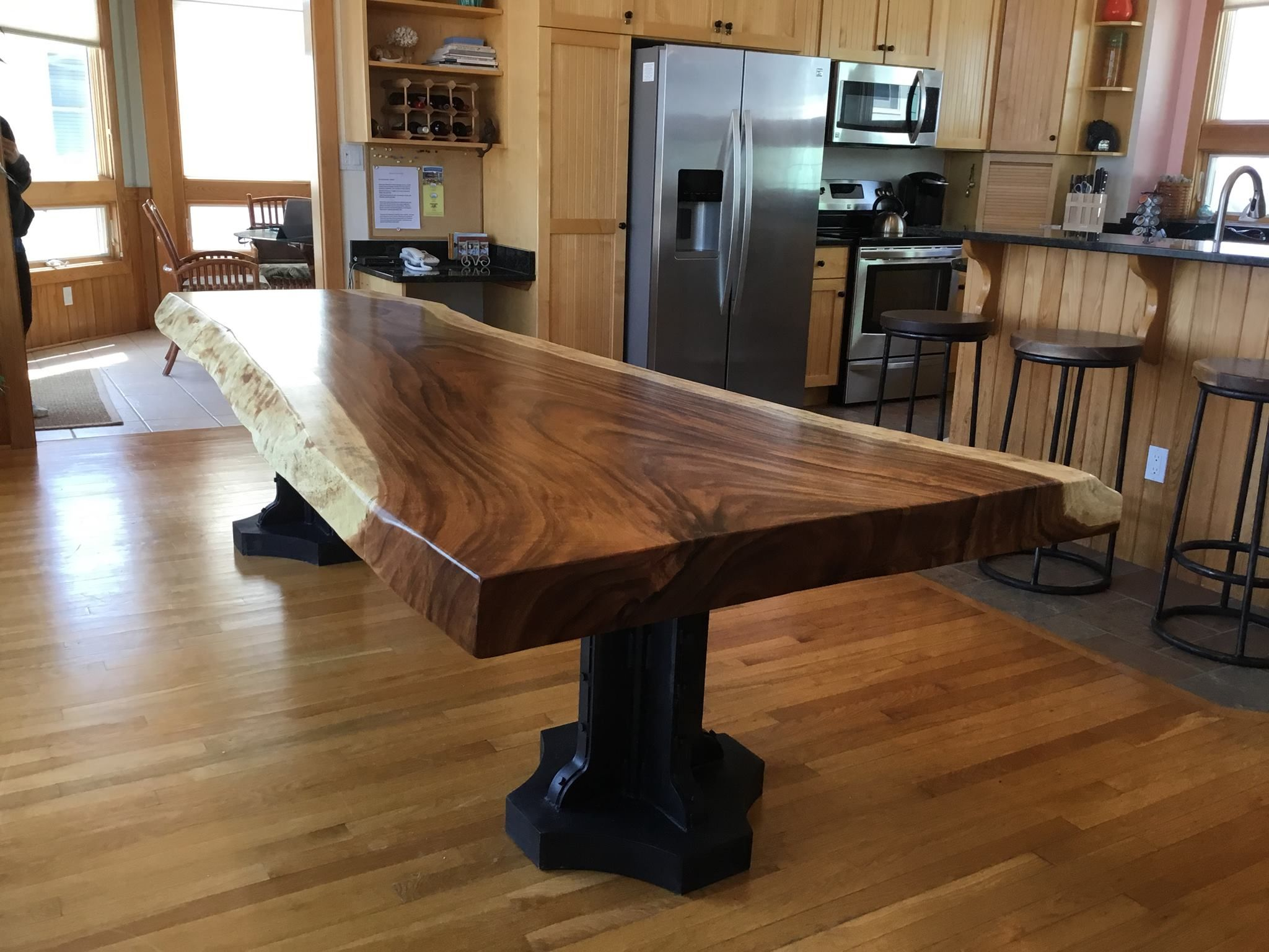 Buy A Handmade Live Edge Dining Slab Table Custom Made To Order From Blowing Rock Woodworks