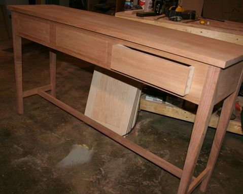 Custom Made Handcrafted Console Table In Walnut