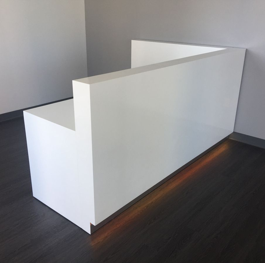 Buy A Hand Crafted Dallas L Shape Reception Desk Made To
